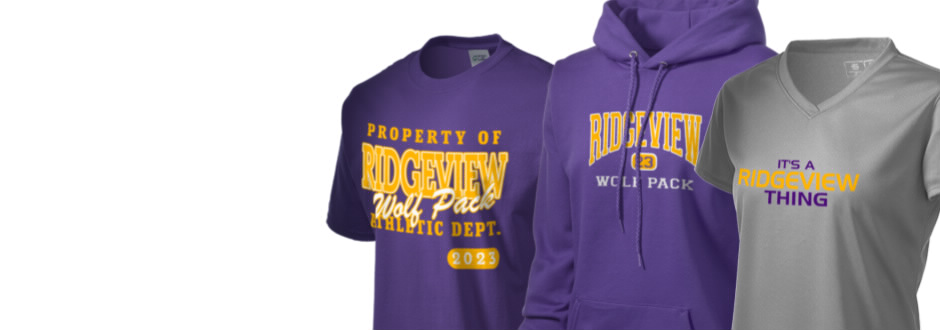 Ridgeview high school wolf pack apparel store prep T shirt outlet bakersfield ca
