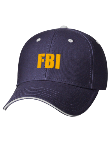 3001e99345b Federal Bureau of Investigation Embroidered Brushed Cotton Twill ...