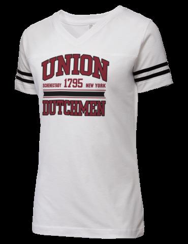 Union College Dutchmen Lat Women S Football T Shirt