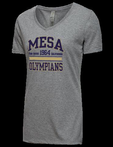 3ff5696c San Diego Mesa College Olympians JERZEES Women's Tri-Blend V-neck T ...