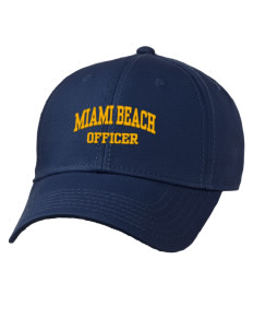 1f6b4538625 Miami Beach Police Department Officer Hats - Adjustable Caps
