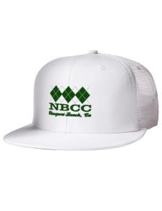 c6174b014f4 Embroidered Cotton Twill Flat Bill Trucker Style Snapback Cap