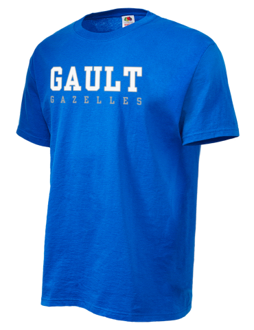 f9ec3d60e Gault Middle School Gazelles Fruit of the Loom Men's 5oz Cotton T-Shirt