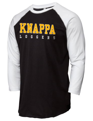 39eb086904 Knappa High School Loggers LAT Men's Baseball T-Shirt