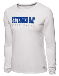 Extended Day High School Wolf Packs Women s T-Shirts - Long Sleeve 386903a9d2