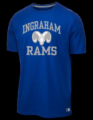 Ingraham High School Rams Russell Athletic Men s 4.5 oz T-Shirt 38f2cc4df