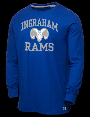 Ingraham High School Rams Russell Athletic Men s Long Sleeve T-Shirt 7bce5d9bb