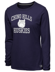 Chino Hills High School Huskies Women s T-Shirts - Long Sleeve ... 7dedd1d26