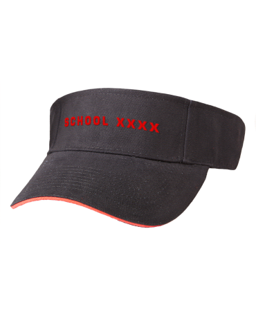 School xxxx Embroidered Brushed Cotton Twill Contrast Sandwich Visor