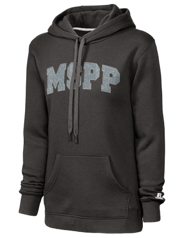 Massachusetts School Of Professional Psychology >> Russell Athletic Women S Hooded Sweatshirt With Sparkle Twill