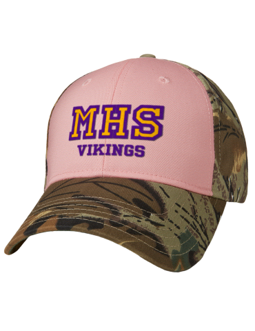 b61cfb9bf Mabton High School Vikings Embroidered Camouflage Cotton Twill Low ...