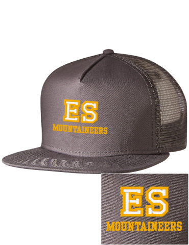 a6fc20bf Edge School Mountaineers Embroidered Five Panel Pro Style Mesh Back Cap