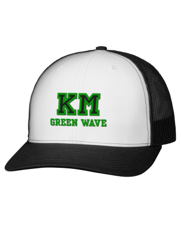 dde6048e Kelly Mill Middle School Green Wave Embroidered Classic Trucker Cap