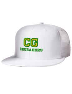 fcd5b4db6cf Embroidered Cotton Twill Flat Bill Trucker Style Snapback Cap