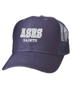All Hats. Embroidered Cotton Twill Trucker-Style Mesh Back Cap 478638044dc