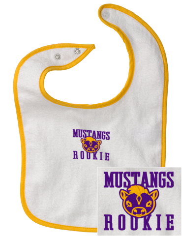 6f1c07032 Mann Elementary School Mustangs Embroidered Infant Contrast Trim ...