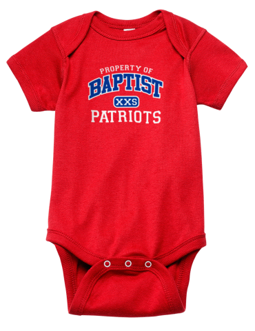 38195e6b Baptist Bible College Patriots Rabbit Skins Infant Baby Rib Onesie