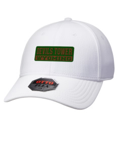 Devils Tower National Monument Wyoming Hats - Stretch Fit Caps
