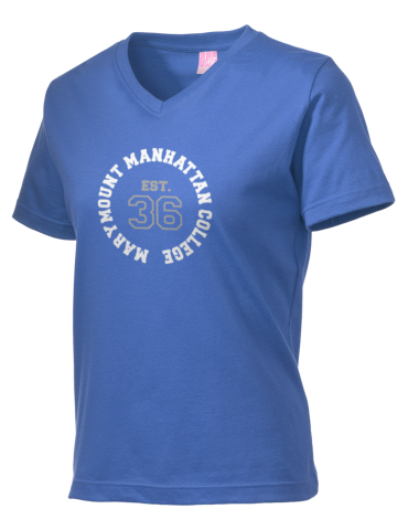Marymount Manhattan College Griffins Lat Women S V Neck T Shirt