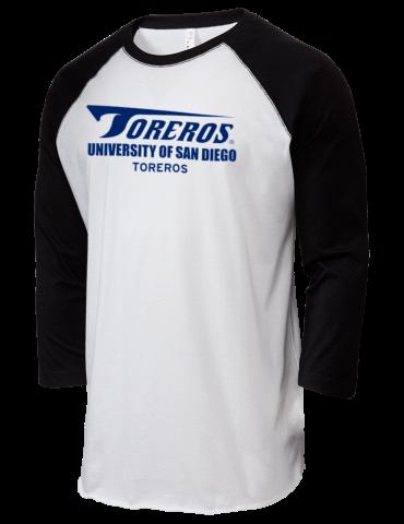 University Of San Diego Toreros Lat Mens Baseball T Shirt