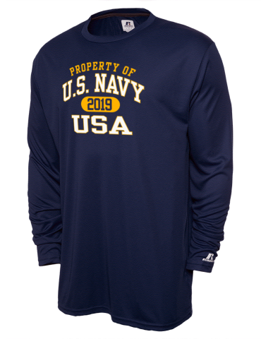 0b4734c63649 U.S. Navy Russell Athletic Men's Core Performance Long Sleeve T-Shirt