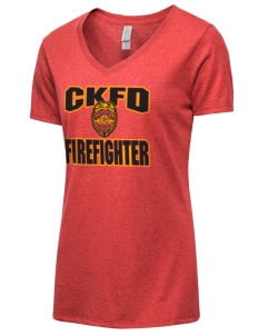 6d6187cf Christopher-Kohl's Fire District Firefighter Women's T-Shirts
