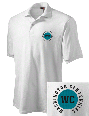 d3fb258c Men s Nike Gray Chicago Cubs Stripe Polo Source · Washington Centennial  Elementary School Cubs Embroidered JERZEES