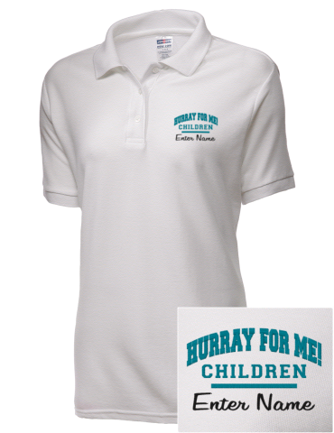 Hurray For Me! School Children Embroidered JERZEES Women's Easy Care™ Polo