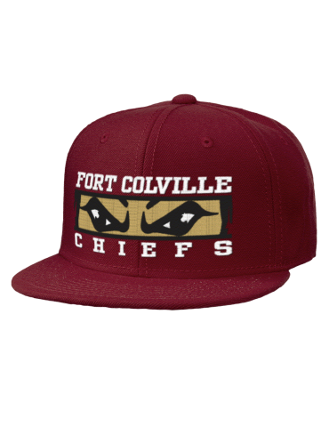 Embroidered Wool Blend Flat Bill Pro-Style Snapback Cap with Large  Embroidery Design