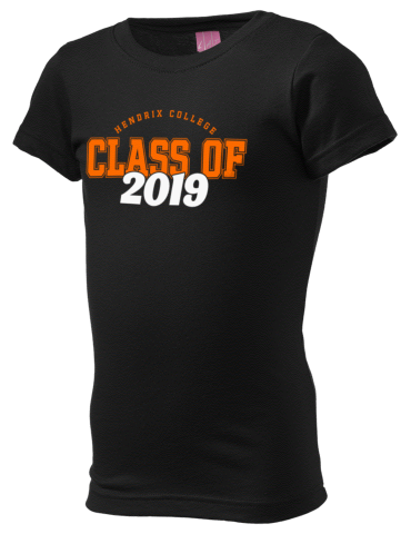 ddff1cc9dde Hendrix College Warriors LAT Girl's Fine Jersey Longer Length T-Shirt