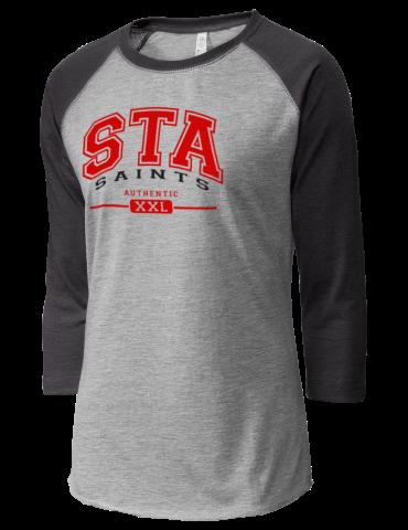 c8d46150 St. Thomas Aquinas School Saints LAT Women's Baseball T-Shirt
