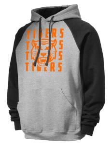 JERZEES Men's NuBlend® 8oz Colorblock Raglan Hooded Sweatshirt