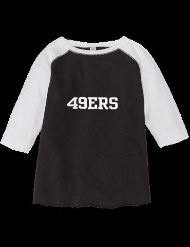 6d8edaf30 Pioneer Middle School 49ers Rabbit Skins Toddler Baseball T-Shirt