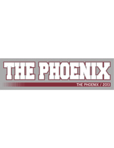 "Marshall High School The Phoenix Bumper Sticker 11"" x 3"""