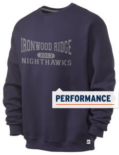 Ironwood Ridge High School Nighthawks  Russell Men's Dri-Power Crewneck Sweatshirt