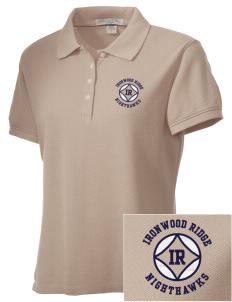 Ironwood Ridge High School Nighthawks Embroidered Women's Performance Plus Pique Polo