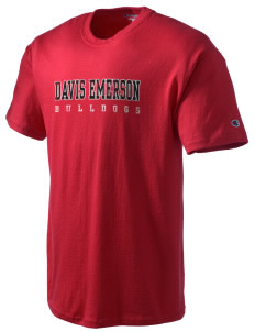 Davis Emerson Middle School Bulldogs Champion Men's Tagless T-Shirt