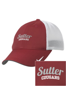 Sutter Middle School Cougars Embroidered Nike Golf Mesh Back Cap