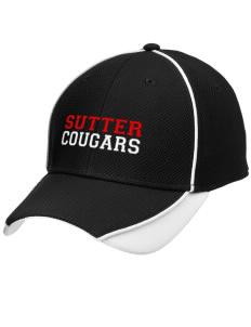 Sutter Middle School Cougars Embroidered New Era Contrast Piped Performance Cap
