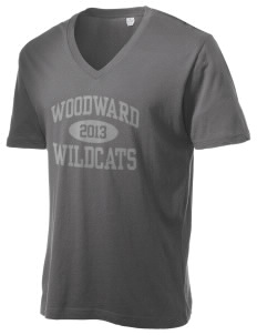 Woodward Middle School Wildcat Alternative Men's 3.7 oz Basic V-Neck T-Shirt