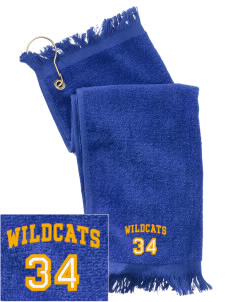 Taft Union High School Wildcats  Embroidered Grommeted Finger Tip Towel