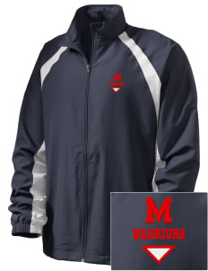McEwen Middle School Warriors  Embroidered Men's Full Zip Warm Up Jacket