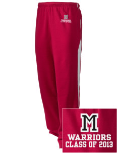 McEwen Middle School Warriors Embroidered Holloway Men's Pivot Warm Up Pants