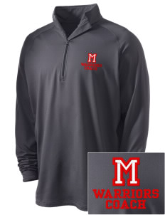 McEwen Middle School Warriors Embroidered Men's Stretched Half Zip Pullover