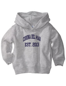 Corona Del Mar Junior High School Sea Weeds  Toddler Fleece Hooded Sweatshirt with Pockets