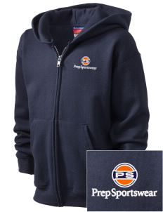 Prep Sportswear Embroidered Champion Kid's Full-Zip Hoodie