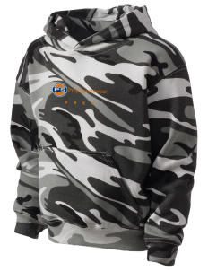 Prep Sportswear Kid's Camo Hooded Sweatshirt