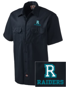 REAGAN HIGH SCHOOL Raiders Embroidered Dickies Men's Short-Sleeve Workshirt