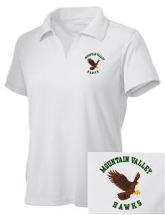Mountain Valley Academy Hawks Embroidered Women's Double Mesh Polo
