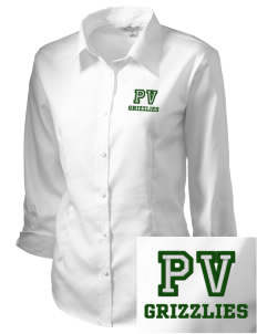 Pajaro Valley High School Grizzlies Embroidered Women's 3/4 Sleeve Non-Iron